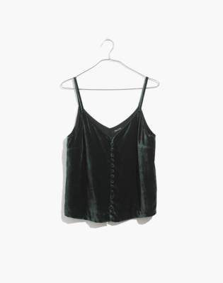 Madewell Velvet Button-Down Cami