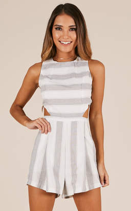 a3a8f721672 Showpo The Reader playsuit in grey stripe - 12 (L) Playsuits