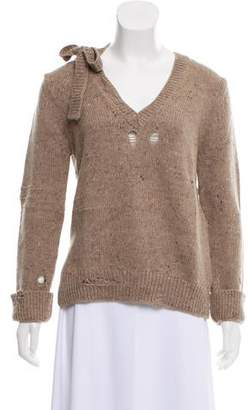 Marc Jacobs Wool & Cashmere Blend Distressed Sweater