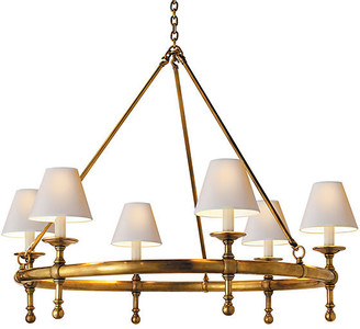Visual Comfort & Co. Classic Ring Chandelier - Antiqued Brass