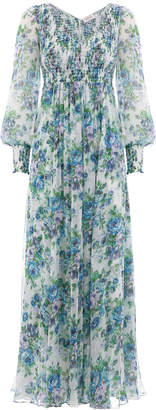 Zimmermann Whitewave Shirred Dress