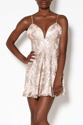 Lovers + Friends Rose Gold Mini Dress