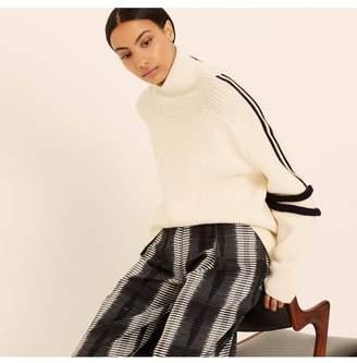 Amanda Wakeley Cream Merino Wool Ski Sweater