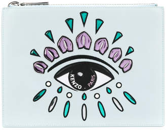 Kenzo embroidered eye clutch