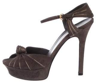 Gucci Knot-Accented Platform Sandals