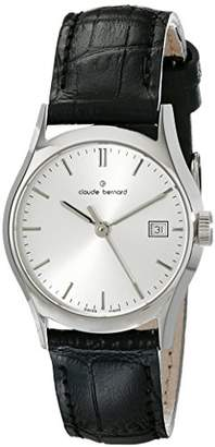 a・i・n Claude Bernard Women's 54003 3 AIN Classic Ladies Analog Display Swiss Quartz Black Watch