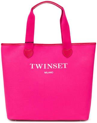 Twin-Set logoed heart tote bag