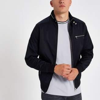 River Island Black lightweight racer jacket