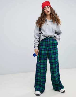 Daisy Street wide leg trousers in check