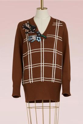 Miu Miu Check wool sweater