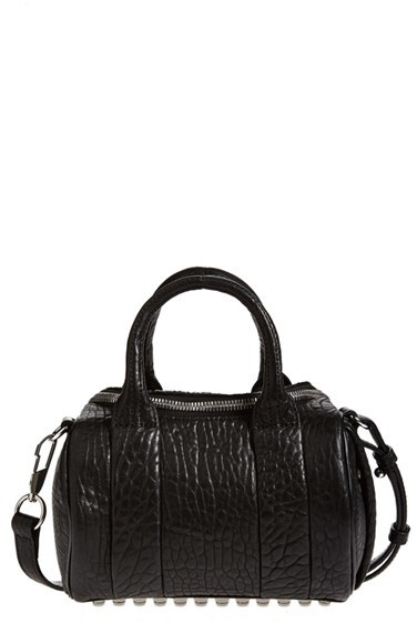 Alexander Wang 'Mini Rockie - Nickel' Leather Crossbody Satchel - Black