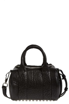 Alexander Wang 'Mini Rockie - Nickel' Leather Crossbody Satchel - Black $595 thestylecure.com