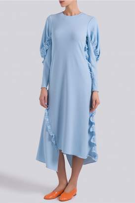 Tibi Ruffled Asymmetric Dress