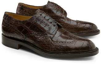 Brooks Brothers Genuine American Alligator Lace-Up Wingtips