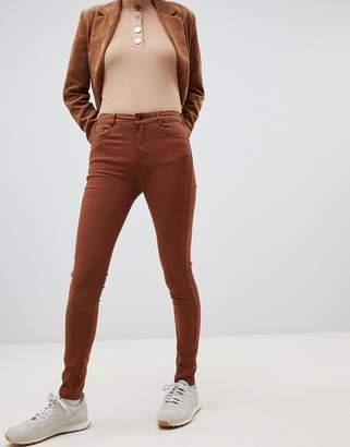 Pull&Bear pushup skinny jean in tobacco