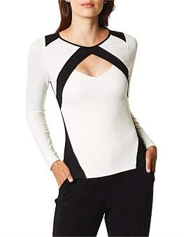 Karen Millen Monochrome Slim Fit Top