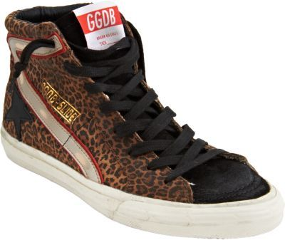 Golden Goose Leopard Suede Slide Sneaker