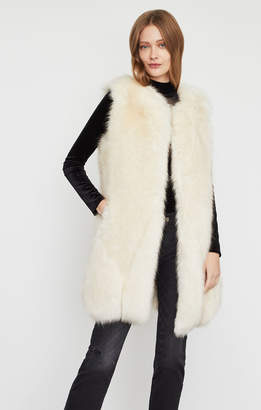 BCBGMAXAZRIA Makenzie Faux Fur Long Vest