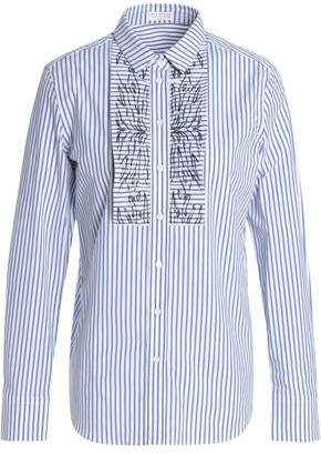 Brunello Cucinelli Striped Stretch-Cotton Poplin Shirt