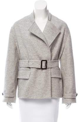 Burberry Belted Wool Jacket