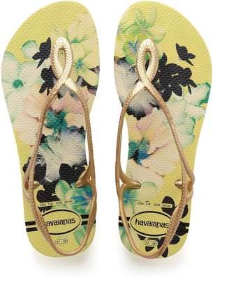50163e907b2e Next Womens Havaianas Yellow Floral Luna Flip Flop