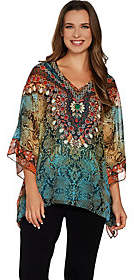 Belle by Kim Gravel Printed Poncho and Tank Set