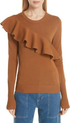 Apiece Apart Sterre Ruffle Detail Sweater