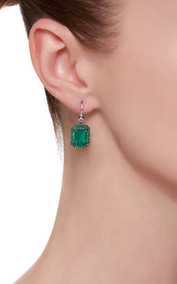 Nam Cho 18K White Gold Rhodium-Plated Multi-Stone Earrings