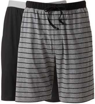Hanes Big & Tall 2-pack Striped and Solid Knit Lounge Shorts