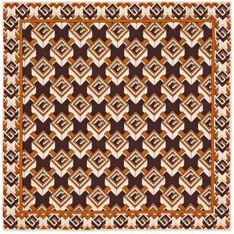 Gucci Geometric G print silk pocket square