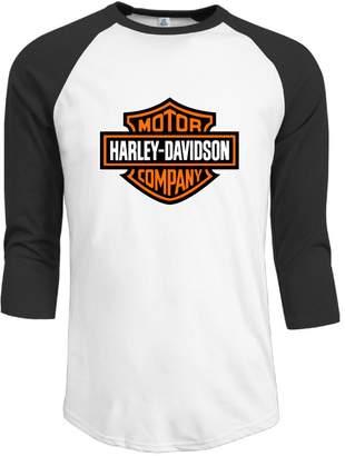 Harley-Davidson Ben-Ben Mens Logo 3/4 Sleeve Raglan T Baseball T Shirt