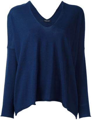 Twin-Set V-neck knitted blouse $109.26 thestylecure.com