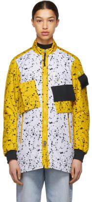 Nike White and Yellow Errolson Hugh Edition ACG Insulated Coat