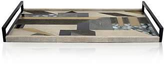 R & Y Augousti Geometric-Pattern Large Rectangular Tray