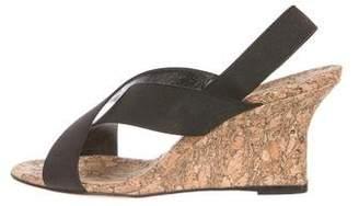 Manolo Blahnik Elasticized Wedge Sandals