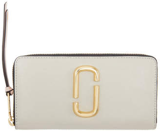 Marc Jacobs Taupe Snapshot Standard Continental Wallet