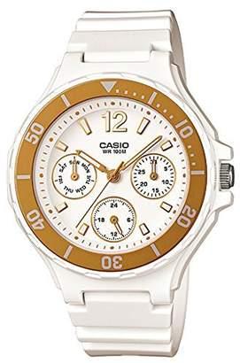 Casio Women's LRW250H-9A1 Gold Bezel Watch