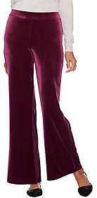 Isaac Mizrahi Live! Regular Knit Velvet WideLeg Pants