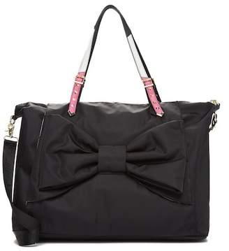 Betsey Johnson Yoga Mat Bow Weekend Bag