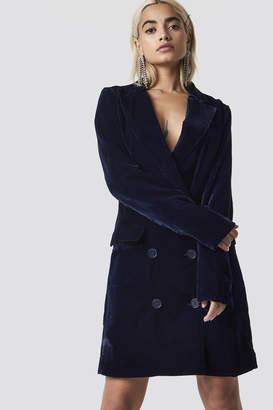 Na Kd Party Velvet Blazer Dress Midnight Blue