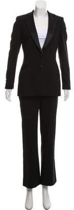 Rena Lange Silk-Wool Wide-Leg Pantsuit