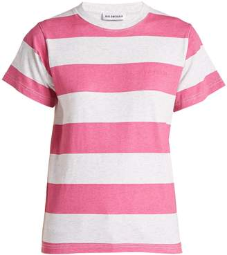 Balenciaga Striped cotton T-shirt