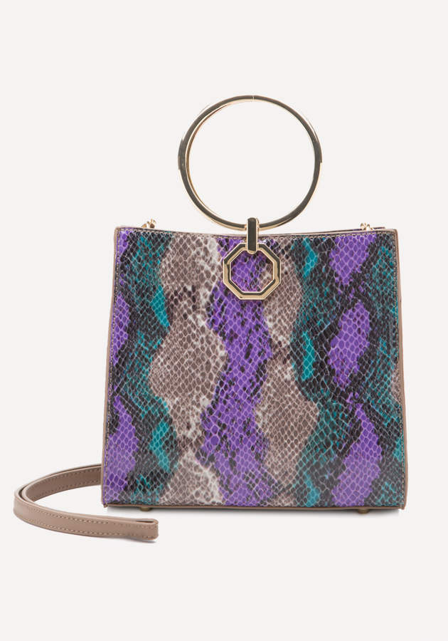 Theda Faux Snake Tote