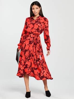 Whistles Esme Wrap Print Dress