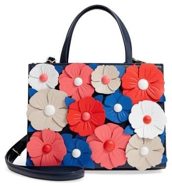 Kate Spade Madison Daisy Lane - Sam Leather Handbag - BLUE - STYLE