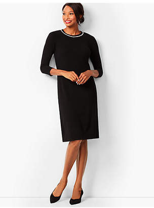 Talbots Diamante-Trim Sweater Sheath Dress