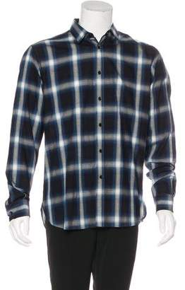 Saint Laurent Plaid Woven Shirt