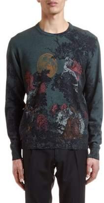 Etro Men's Wool Dragon Graphic Sweater