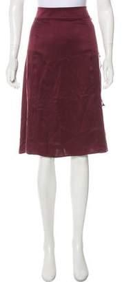 Public School Silk Knee-Length Skirt