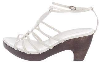 CNC Costume National Leather Platform Sandals